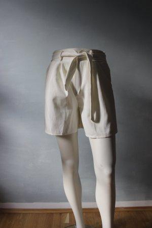 High waist short wit-licht beige