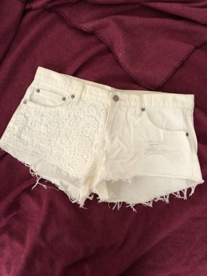 Forever 21 Denim Shorts white