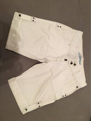 Timezone Pantalón corto de tela vaquera blanco
