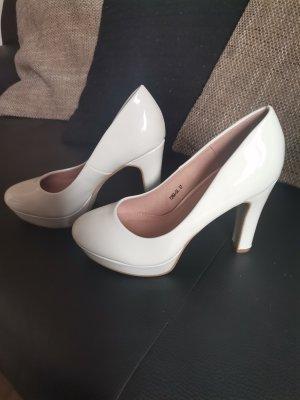 Buty na platformie biały
