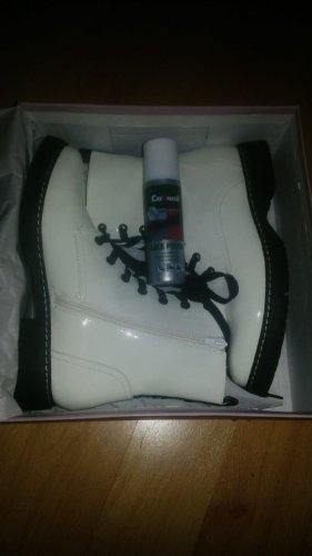 Slouch Booties white-black