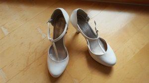 Marco Tozzi Zapatos de tacón con barra en T blanco
