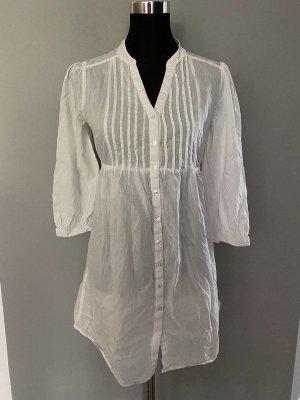 H&M Blouse longue blanc coton