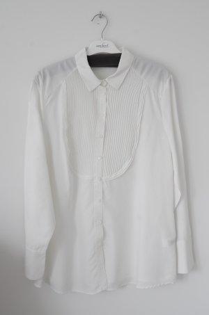 Weiße Langarm Bluse
