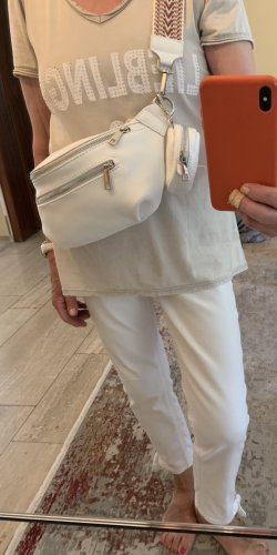 Börse in Pelle Bumbag white leather