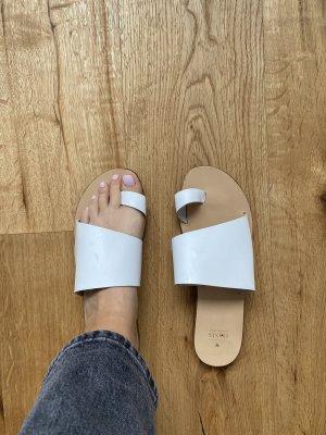 Weiße Leder Sandale / Zehentrenner von Oasis