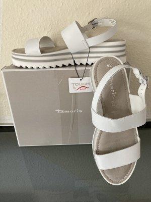 Tamaris Platform High-Heeled Sandal white
