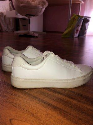 Weiße Leder Sneaker