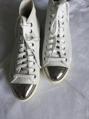 Weiße Leder -Sneaker von MIU MIU