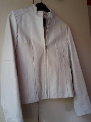 Amisu Leren blazer wit