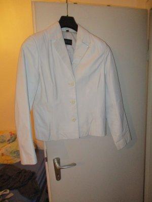 Barisal Veste en cuir blanc