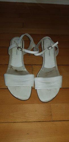Sandalen met bandjes wit