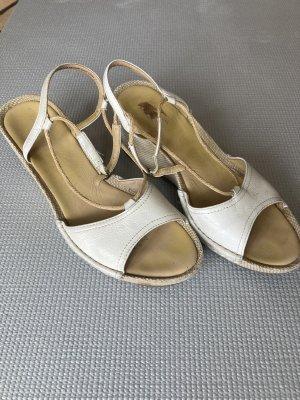 Clarks Platform High-Heeled Sandal white-beige