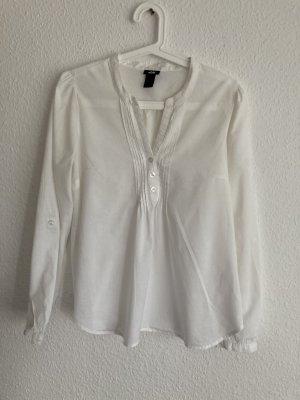 H&M Bluzka o kroju koszulki biały