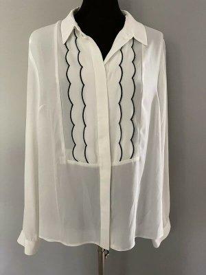 Dorothy Perkins Long Sleeve Blouse white-black polyester
