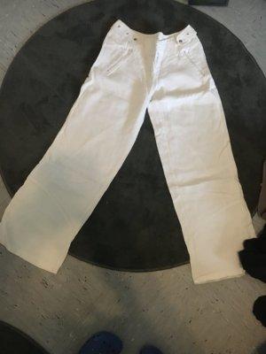 Lniane spodnie biały