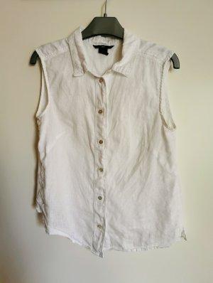 H&M Linen Blouse white linen