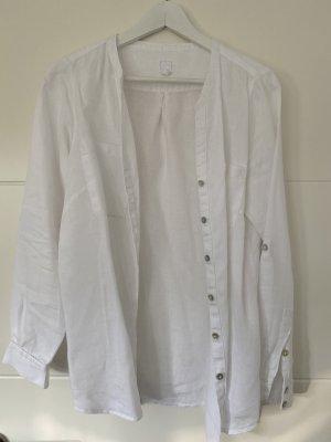 pure linen Blusa de lino blanco Lino