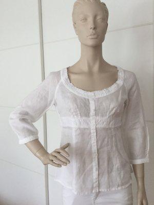 Promod Linen Blouse white