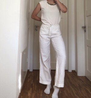 Esprit Pantalon en lin blanc