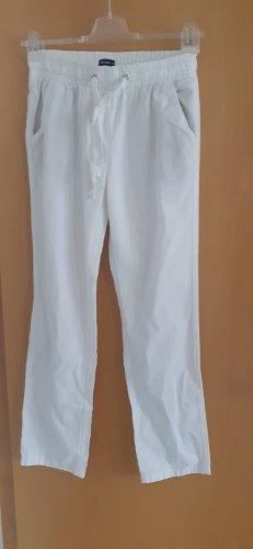 Weiße Leinenhose