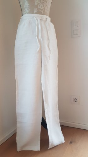 Pantalón de lino blanco Lino
