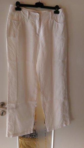 G.W. Pantalone di lino bianco Lino