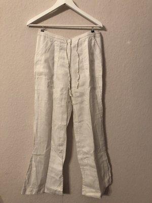 H&M Linen Pants white