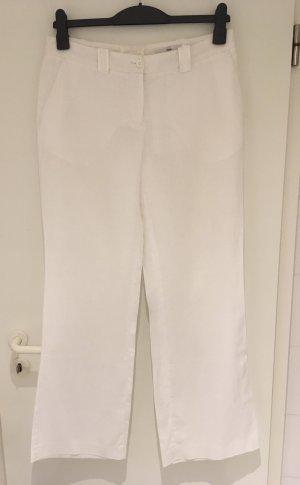Weiße Leinenhose von H&M in Größe 38