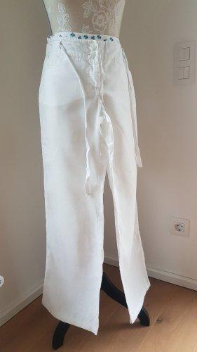 Orsay Pantalon en lin blanc