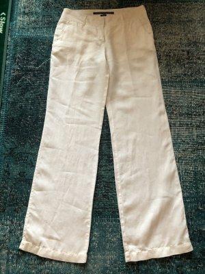 Marc O'Polo Pantalone di lino bianco-bianco sporco