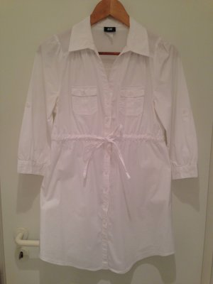Weiße Long-Bluse von H&M in Größe 40