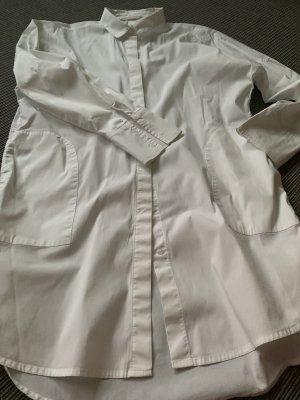 Blusa larga blanco Algodón