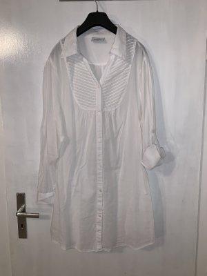 Gina Benotti Long Blouse white-natural white cotton