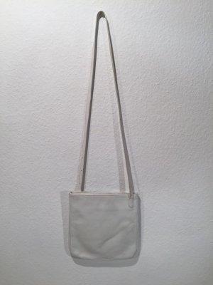 Weiße LONGCHAMP Umhängetasche aus Leder