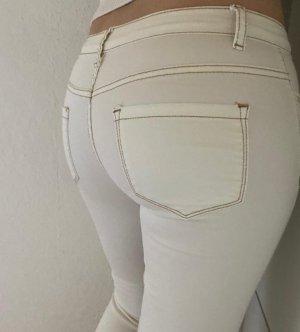 Colloseum Jeans vita bassa bianco-bronzo