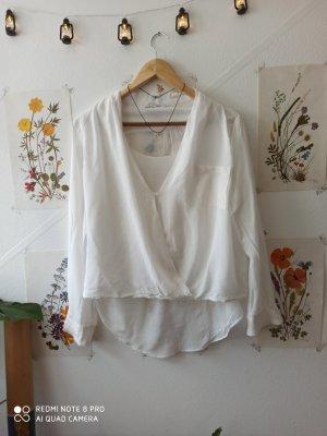 Steilmann Camicetta aderente bianco-beige chiaro