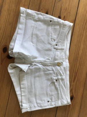 weiße Mango Hot Pants