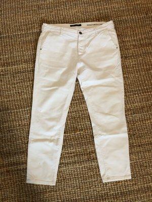 Marc O'Polo Spodnie typu boyfriend biały