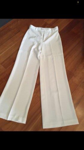 Zara Pantalón anchos blanco