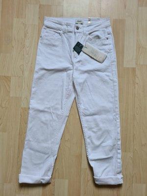 Weiße Mom-Jeans