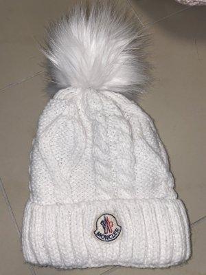 Moncler Sombrero de tela blanco