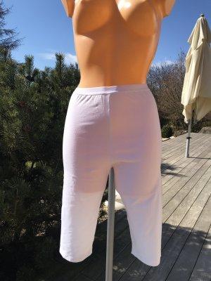 Pantalon capri blanc coton
