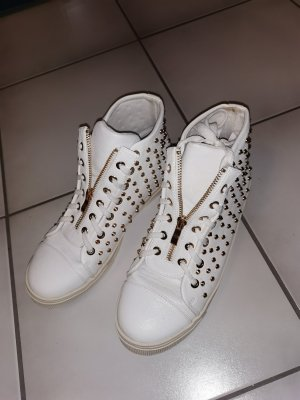 Moda Italiana High Top Sneaker white-gold-colored