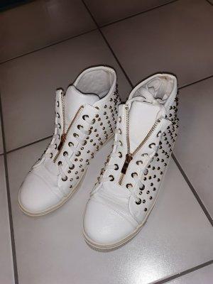 Moda Italiana Sneaker alta bianco-oro