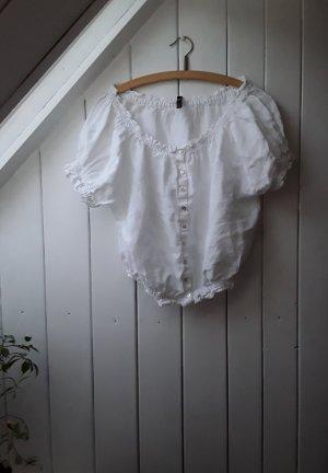 Weiße Offshoulder Bluse von Zara