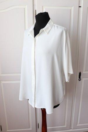 H&M Bluzka oversize biały-w kolorze białej wełny