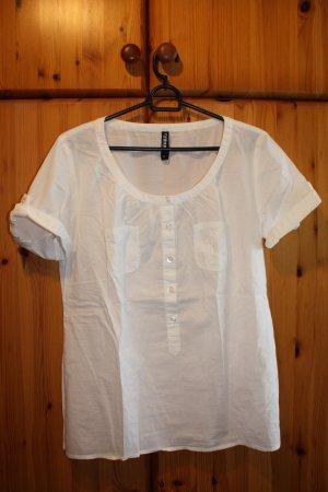 weiße Oversized Hemd-Bluse