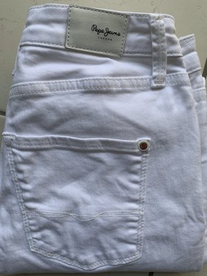 Pepe Jeans 7/8 Length Jeans white cotton