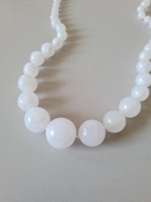 Vintage Collar de perlas blanco-color oro